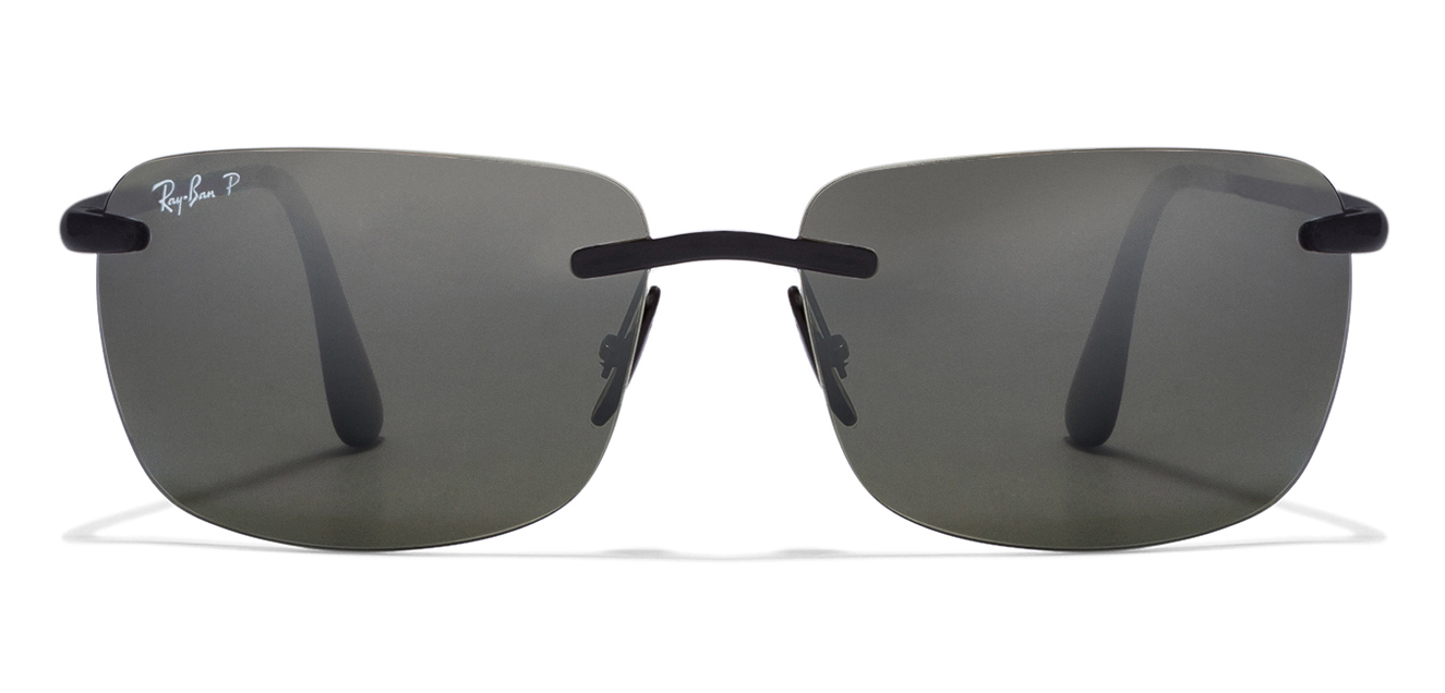 Ray-Ban RB4255 601/5J Size-60 Black Grey Silver Mirror Sunglasses  available at Lenskart for Rs.0
