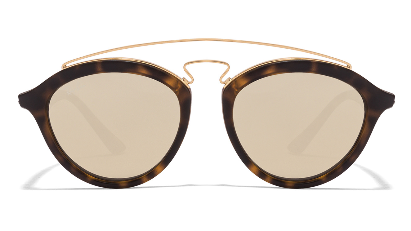 Ray-Ban RB4257 6092/5A Size-50 Tortoise Golden Mirror Sunglasses  available at Lenskart for Rs.0