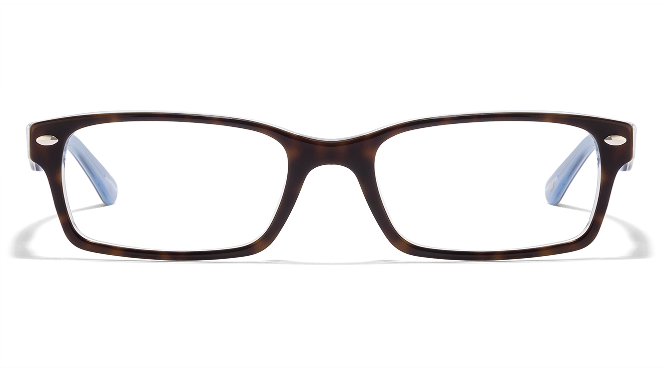 ray-ban RX5206 Size: 54 Tortoise Blue Transparent 5023 Eyeglasses  available at Lenskart for Rs.0