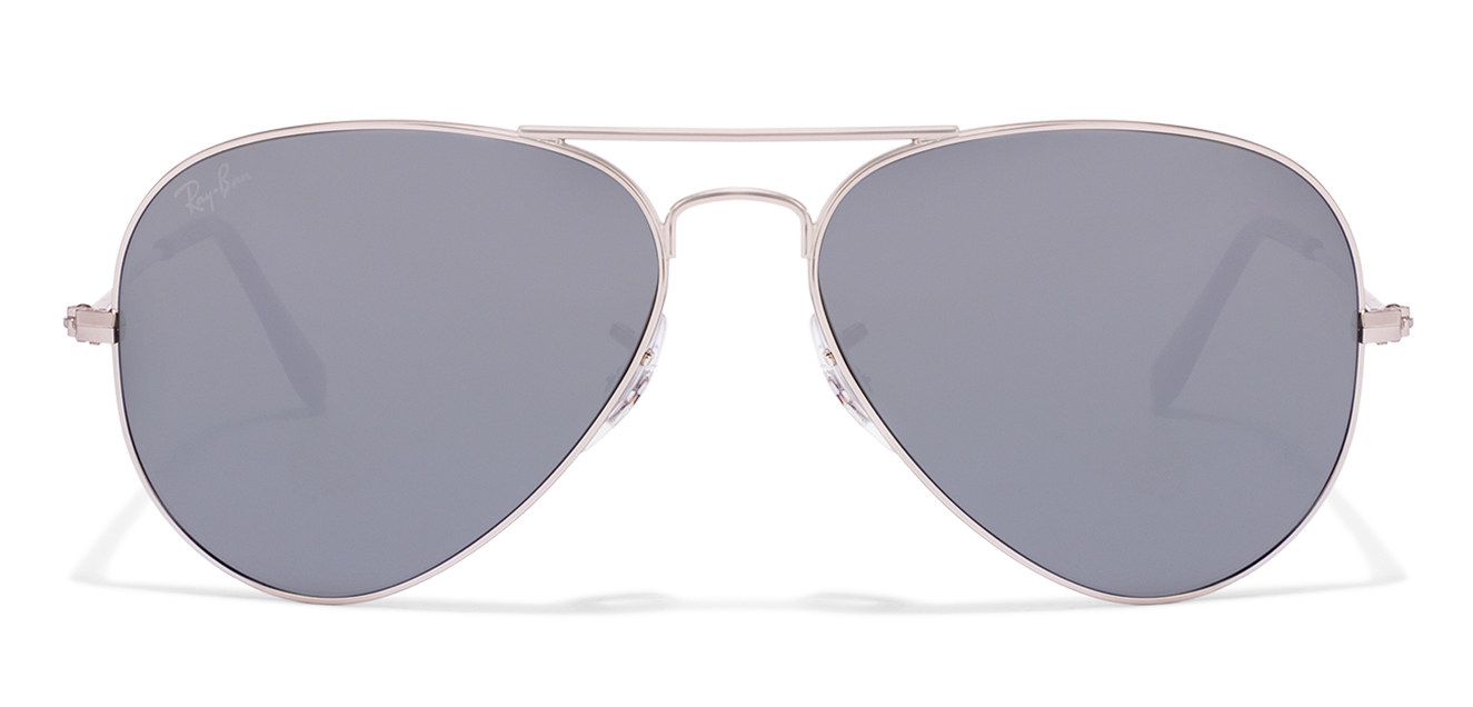 Ray-Ban RB3025 Size:55 Silver Silver Reflector Mirror W3275 Aviator Sunglasses  available at Lenskart for Rs.0