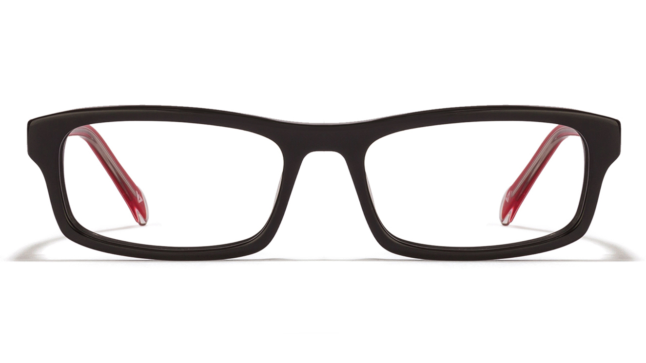 Free Frame : Vincent Chase Turn table VC 1483 Black Red Transparent C5 Eyeglasses  available at Lenskart for Rs.0