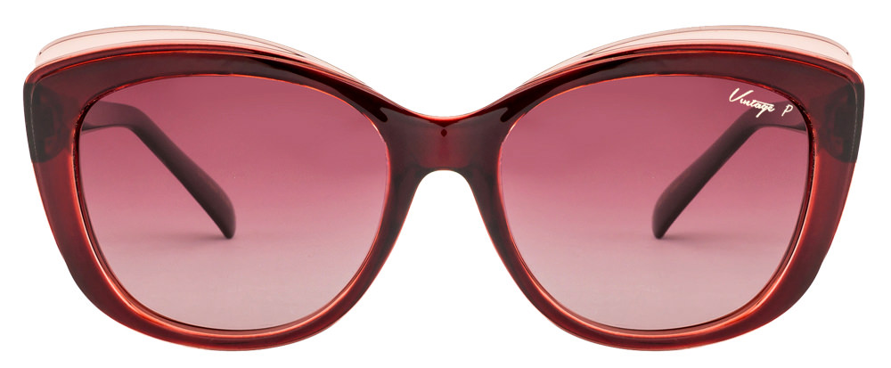 Vintage Budhapest Maroon Pink Gradient Col 199 Polarized Women's Sunglasses  available at Lenskart for Rs.0