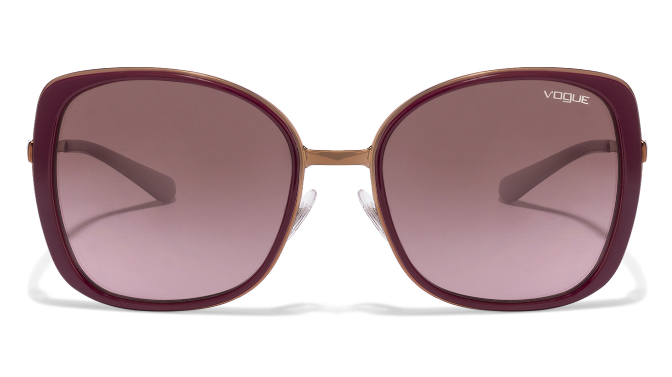 Vogue VO3990 Size:55 Golden Maroon Brown Pink Gradient 813/14 Women's sunglasses  available at Lenskart for Rs.0