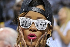 Rihanna in her shades