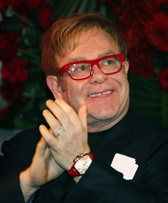 Elton John wearing eyeglasses