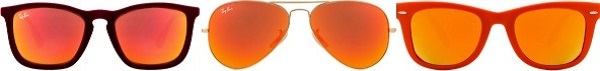 John jacobs red mirror sunglasses