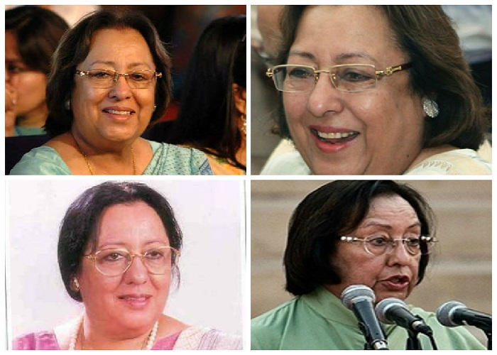 In the yesteryears too, Ms. Heptullah's fashion quotient was up to the mark, at least with respect to her eyeglasses.Different attires with different eyeglasses – that's Ms. Heptullah for you.