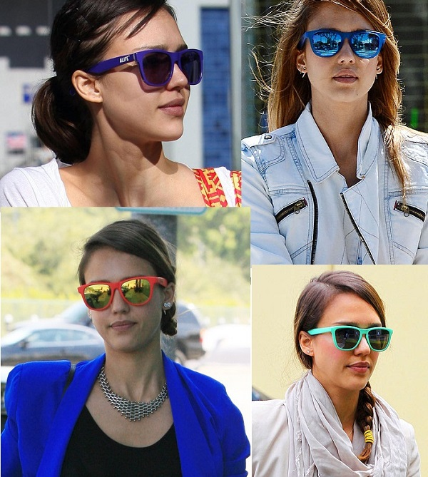 Celebrity Colorful Mirror Sunglasses