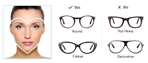 Eyeglass Frames Heart Shaped Face : Frames that fit your face shapes - Lenskart Blog