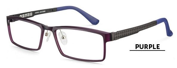 purple full rim frame