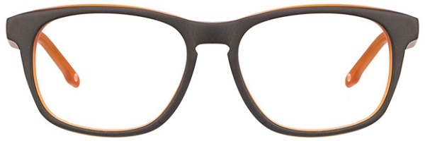John Jacobs JJ 1353 Matte Black Brown P1p1eo Wayfarer Eyeglasses