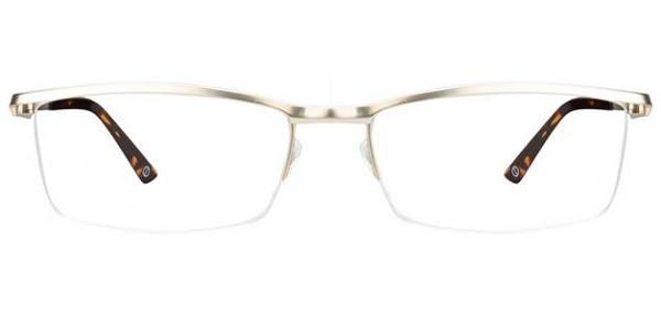 stylish half-rim frame