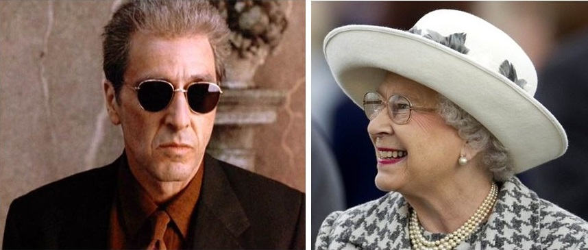 Al Pacino and Queen of England