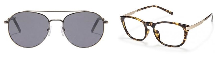 sunglasses by John Jacobs and John Jacobs tortoise eyeglasses